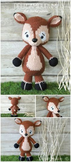 Free Crochet Amigurumi Patterns : Free Here you will find interesting ideas and lots of free amigurumi patterns and step-by-step crochet toy tutorials. Crochet Deer, Crochet Kids Hats, Crochet Dolls, Free Crochet, Irish Crochet, Baby Boy Crochet Blanket, Baby Girl Crochet, Crochet Poncho With Sleeves, Crochet Scarf Tutorial