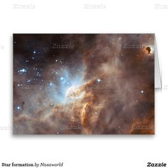 Star formation greeting card