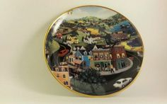 Franklin Mint Decorative Plate - Hometown U.S.A Bob Lobrippo Limited Edition in Collectibles, Decorative Collectibles, Decorative Collectible Brands | eBay