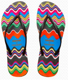 a001432df3e367 Missoni and Haviaianas flip flops Rainbow Flip Flops