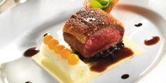 Roast van hertenvlees in hazelnotenpraliné