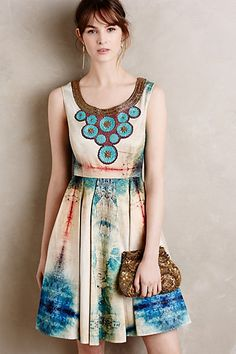 Villette Necklaced Dress #anthropologie **but reimagined as a soft maxi skirt** :)