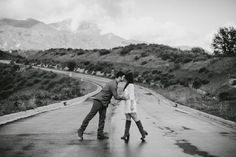 Canyon Engagement Couple Pose