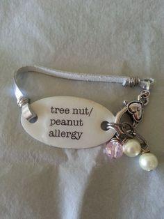 Medical Bracelet Allergy Diabetes Alert CUSTOM by belmonili, $15.00