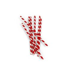 """Kikkerland Biodegradable Paper Straws, Red and White Striped, Box of 144 : Amazon.com - Add mustaches or """"What I learned from Musicals"""" tidbits."""