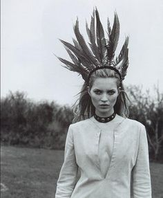 'A Couture Life'. Kate Moss photographed by Juergen Teller for Vogue Italia, May 1996.