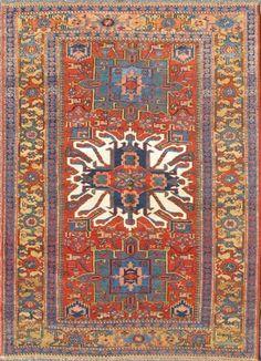 "KEIVAN WOVEN ARTS,   Type :Karadjeh Origin :Iran  Size : 4'7""x6'10""  Circa :1900"