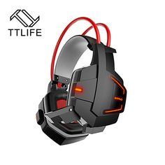 TTLIFE New Ghost Fashion Stereo Glow PC Gaming Headphones Gamer Headset Headband Casque Audio With Mic Volume Control LED Light