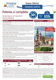 Polonia Al completo Semana Santa desde Madrid**Precio final desde 859** ultimo minuto - http://zocotours.com/polonia-al-completo-semana-santa-desde-madridprecio-final-desde-859-ultimo-minuto/