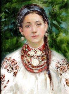 Katheryna Biletina , Ukraine, from Iryna Exotic Art, Ukrainian Art, Painting Gallery, Victorian Women, Russian Art, Female Art, Street Art, Illustration Art, Portrait