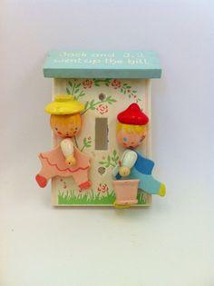 Jack and Jill Imri Switch Plate Wood Nursery Rhyme by Comforte, $13.00