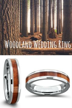 This silver wood tungsten wedding ring is the perfect width for him. He loves the great outdoors and would just adore this wedding ring!