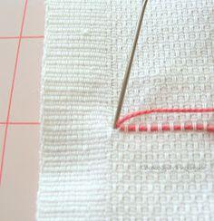 Serendipity Handmade: Swedish Weaving Vintage Towel Tutorial - Part One Swedish Embroidery, Embroidery Hoop Art, Cross Stitch Embroidery, Embroidery Patterns, Swedish Sewing, Free Swedish Weaving Patterns, Huck Towels, Monks Cloth, Cross Stitch Needles