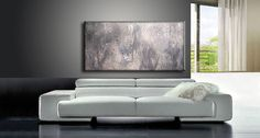 GRAY ABSTRACT Textured Abstract by newwaveartgallery on Etsy