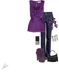 """""""Purple Boots"""" by allisonbf ❤ liked on Polyvore"""