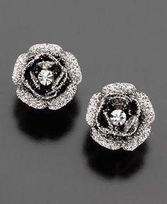 betsey johnson rose bud earrings