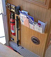 Pocket bin at entry door