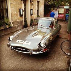 Vintage Jaguar spotted in Glasgow.