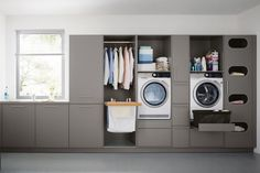Who says utility rooms have to be boring. When attention to detail is your thing call taylorscot always thinking outside the box!… Like the built in storage for galley style laundry room with window Home, Room Remodeling, Boot Room, Built In Storage, Laundry Design, Utility Room Storage, House Interior, Utility Rooms, Room Design