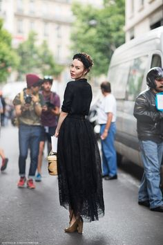 """""""I've been admiring Ulyana's beautifully put together street style for the past couple years and she has risen to be one of my absolute favorites during fashion week. Her style is perfect in my eyes, romantic, charming and definitely feminine . . """""""