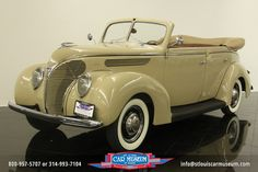 1938 Ford DeLuxe Convertible Sedan