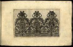 Bartolomeo Danieli, Vari disegni di merletti, edito da Agostino Parisini e Giovanni Battista Negroponte, 1639, Bologna.