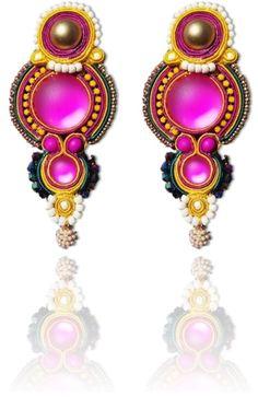 #Soutache #earrings, Soutache #jewerly, #handmade jewerly, #bijoux, #orecchini, #pendientes #fashion #design #madeinitaly - NAïF EARRINGS