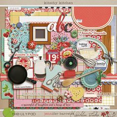 Free Digital Scrapbooking - Kitschy Kitchen | Sahlin Studio | Digital Scrapbooking Designs  This one is for purchase