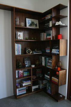 Walnut book shelve