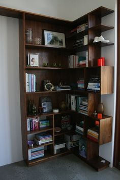 Walnut book shelve