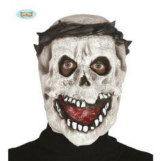 Máscara de látex de calavera con corona de espinas
