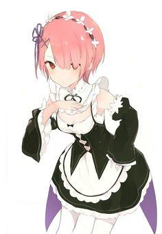 Ram (Re:Zero) - Re:Zero Kara Hajimeru Isekai Seikatsu - Mobile Wallpaper - Zerochan Anime Image Board Loli Kawaii, Kawaii Cute, Kawaii Girl, Manga Anime Girl, Anime Art, Anime Girls, Anime Neko, 2016 Anime, Ram And Rem
