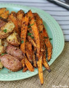 Roasted Root Vegetables with Garlic-Cornmeal Coating