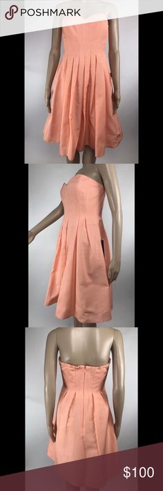J Crew Peach Pink Bridesmaid Party Formal Dress Brand new with tags J. Crew Dresses Strapless