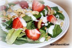 Strawberry Cashew Salad with Poppy Seed Dressing