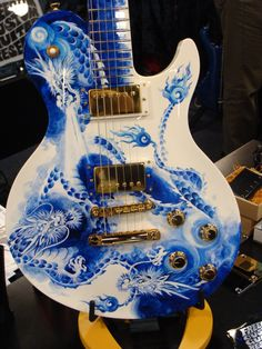 Custom Hand-Painted Guitar by Freedom Custom Guitar Research Co. of Tokyo, Japan