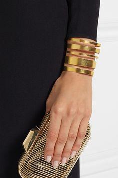 Hervé Van der Straeten   Hammered gold-plated cuff   NET-A-PORTER.COM Modern Jewelry, Jewelry Art, Van Der Straeten, Brass Cuff, Hammered Gold, Weekend Wear, Artisan Jewelry, Timeless Fashion, Girly Things