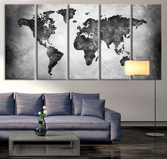 17678 large wall art world map canvas print watercolor world map 5 dicas essenciais de decorao para viajante gumiabroncs Image collections