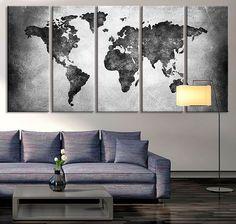 mapa mundi na decoração