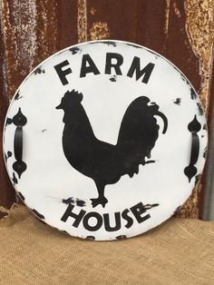 Rooster Lazy Susan farm house table farm house by IttyBittyWedding