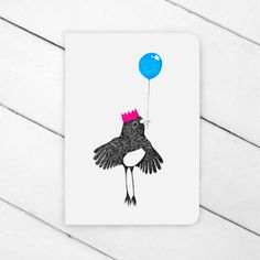 Party Robin Greeting Card from FlyAway BlueJay