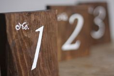 Wedding Table Numbers Rustic Wedding Signs Wooden by kashturana