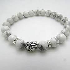 Natural Stone bead Buddha Bracelets For Women and Men,Silver Buddha, Turquoise,Black Lava bracelet
