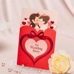 Personalized Elegant Asian Chinese Style Love Heart Wedding Invitation Card Free Printing From Thinkbuy, $125.66 | Dhgate.Com