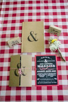 apersand wedding invite