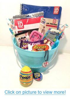 Girls teen easter basket and a few other basket ideas via one direction easter egg citement candy gift basket for tween teen girls negle Images