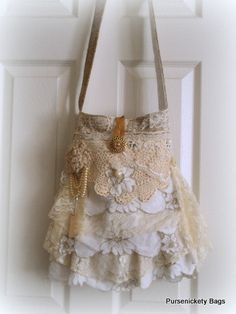 Gypsy+Bag+large+Shabby+Chic+bag+soft+thick+by+PursenicketyBags,+$80.00
