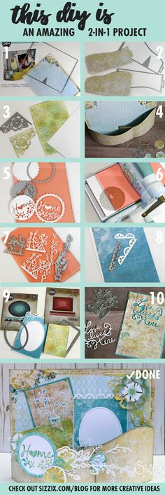This project is perfect to give to your friends or family after they move! Not only do you get to make a beautiful card, this project includes frames and home decor as well.