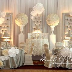 Top Ten Glamorous Wedding Head Tables, All White Sweetheart Table
