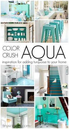 This post has so many ways to add a fun pop of turquoise to your space. Love this color and all of the color inspiration.